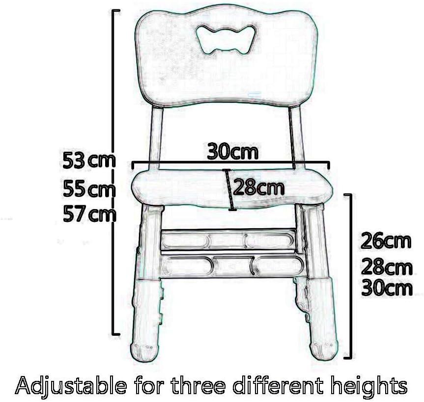 LWW Chaises Salle de classe à quatre pièces, plastique Pvc solide, Clubs d'école maternelle de jardin de thé,Bleu1 Rose