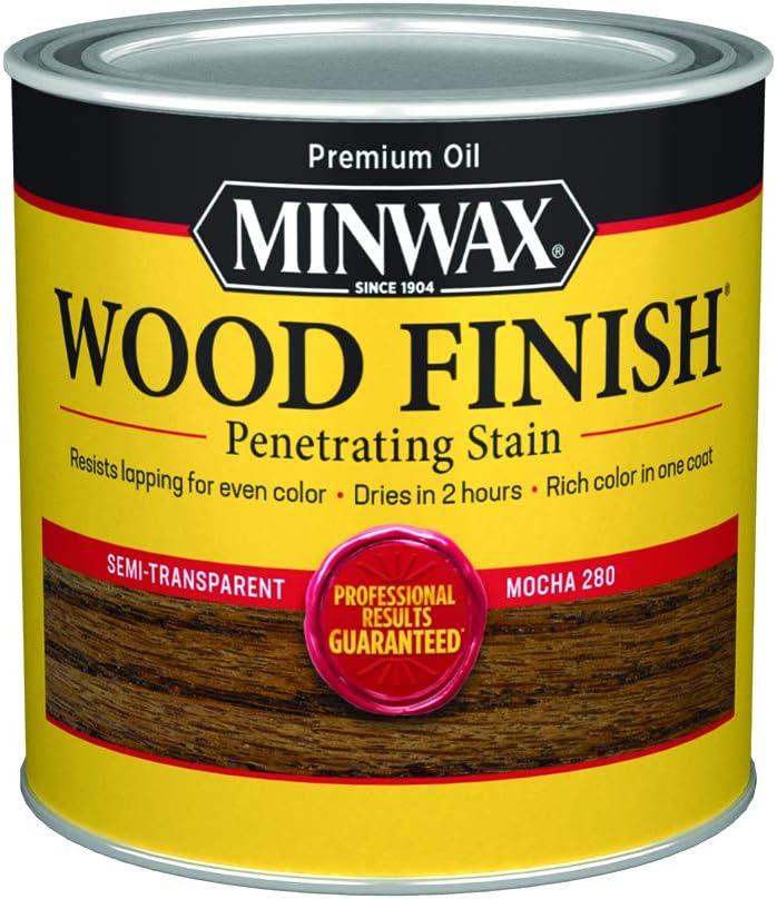 1 year warranty Minwax 227194444 Wood Finish Half Sacramento Mall Mocha Pint