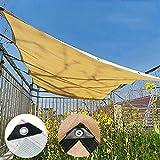 QY Toldo De Protección Solar para Fiestas, Patio, Jardín Al Aire Libre, Red De Sombreado, 95% Rectangular, Ventilación De Arena, Parasol, Vela, Jardín(Color:Amarillo,Size: 2x1.5m,)
