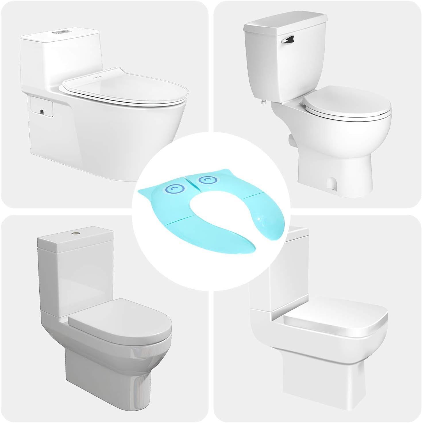 si/ège de toilette de voyage pliant mise /à niveau stable avec des coussinets en silicone antid/érapants housse de pot portable Si/ège dentra/înement pour pot de toilette