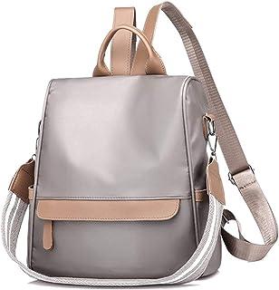 XKwjqDP Leather Backpack Handbags for Women Fashion School Bag Ladies Anti-Theft RucksackTravel Casual Detachable Covertible Ladies Shoulder Bag (Black White) Fashion,Leisure,Travel (Color : White)