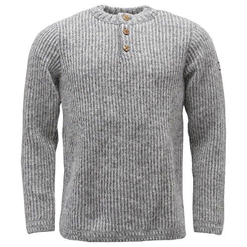 ICEWEAR Markús Classical Icelandic Wool Sweater | Pattern Around Shoulders Light Grey