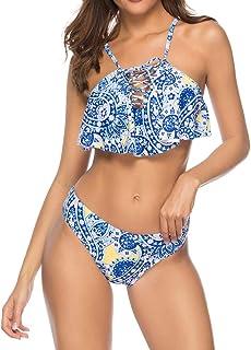 OVERMAL 水着 ビキニ 2点セット サーフィン服 帯 セクシー ラッシュガード 女の子 温泉 パッド付き 人気 オシャレ レディース 欧米風
