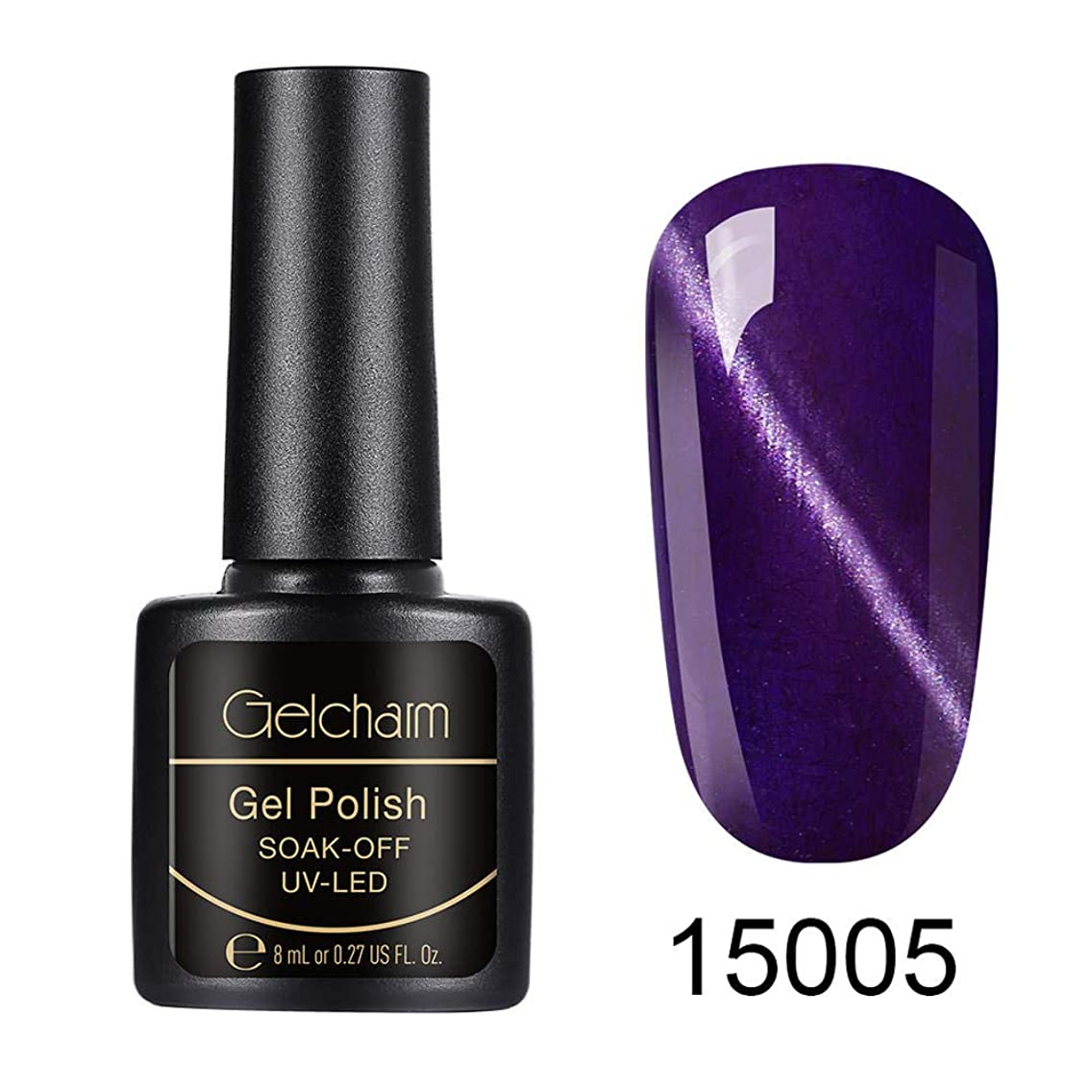 Gelcharm Furcoat Cat Eye Gel Polish Gel Polish UV LED Soak Off Gel Nail Varnish Gloss Nail Art Salon Manicure 8ML 15005