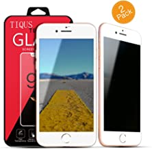 TIQUS 3D Full Coverage Anti-Spy 8 Plus Privacy Screen Protector 7 Plus Tempered Glass Screen Protection [2Pack][White]