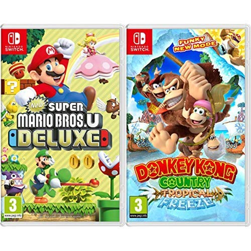 New Super Mario Bros. U Deluxe & Donkey Kong Country: Tropical Freeze: Amazon.es: Videojuegos