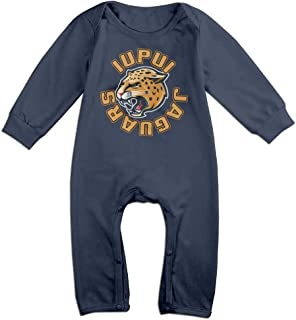 IUPUI Jaguars Funny Long Sleeves Variety Baby Onesies Body Suits For Little Kids