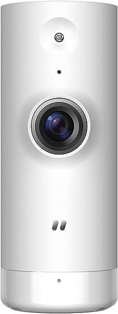 D-Link DCS-8000LH – Cámara IP WiFi de vigilancia con Acceso Desde móviles grabación de vídeo en la Nube y en el móvil HD 720p H.264 Compatible Amazon Alexa y Google Home para iOS/Android
