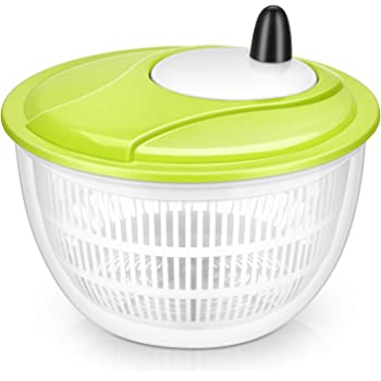 Lougnee Premium Large Salad Spinner 5 Quarts Vegetable Washer with Bowl