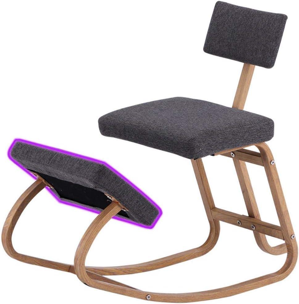 Oiuytghjkl Chaise de bureau ergonomique à genoux pour équilibrer les genoux Tabouret à bascule Gris foncé Couleur Gris Foncé.