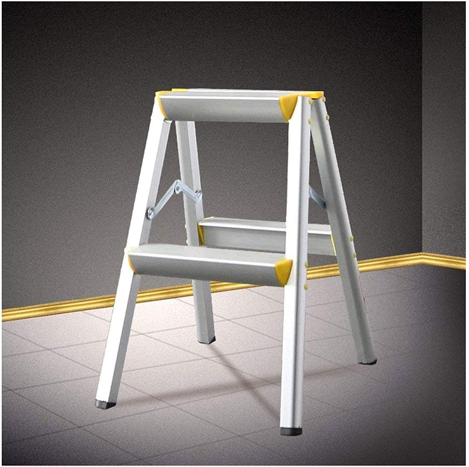 XMTEY Ladder Stool Two Three Four Five Steps Nonslip Folding Household Pavilion Pedals Herringbone Dual Use Indoor (Size   2 step)