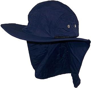 Stone Age Men Women Wide Brim Summer Hat Neck Flap (One Size) 651aeb1a1060