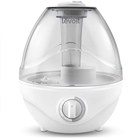 LEVOIT Humidifiers for Bedroom Air Vaporizer for Babies (BPA Free), Easy to Clean, Night Light, Lasts up to 24 Hours, 2.4L, Gary