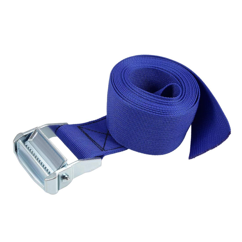 地中海ボトルナインへuxcell 荷物ストラップ ラッシングストラップ ベルト 荷物固定ロープ 荷物落下防止 3Mx5cm 500Kg ブルー タイダウンストラップ 1個入り