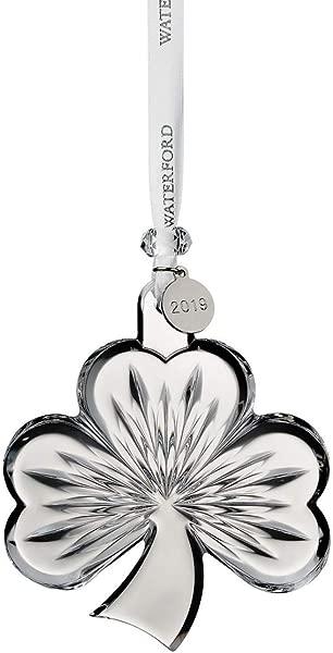 Waterford Crystal Shamrock Ornament 3 8