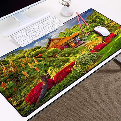 HONGHUAHUI Landschap Stijl Scenery Mooie Stad Hoog Bouwen HD Art Patroon DIY Mousepad pc Tafel Gaming Mouse Pad, 300X600X2MM A2