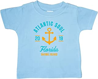 inktastic Atlantic Soul Florida Sanibel Island 2019 with Anchor Baby T-Shirt