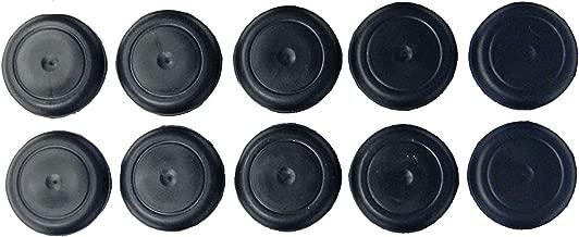 (Pack of 10) Caplugs Brand: BPFE-19MM Rubber Ergonomic Button Plugs Flush Type Heads | Hole Size .728-.787