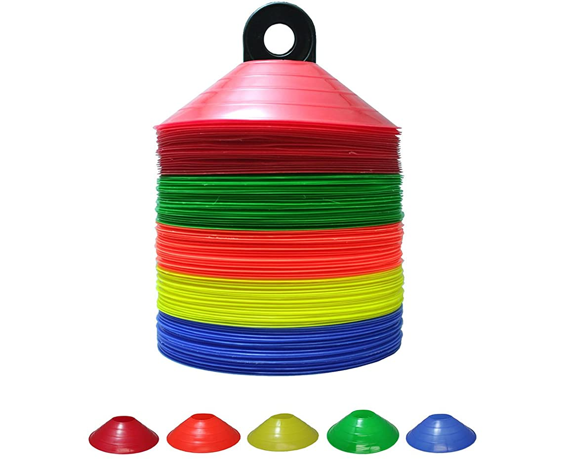 Set of 25/50/100 Soccer Disc Cones - PP(Polypropylene)-Safe& Durable