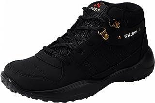 5cb0f58c3143 WELCOME Men's Darkblack Boat Shoes-10 UK/India (44 EU) (01BlackJogger_10