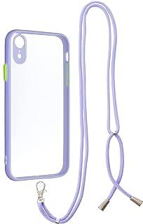 Nadoli Crossbody fodral för iPhone Xr 15,5 cm, kristallklar snodd halsband telefonskydd med justerbar längd snodd sladd st...