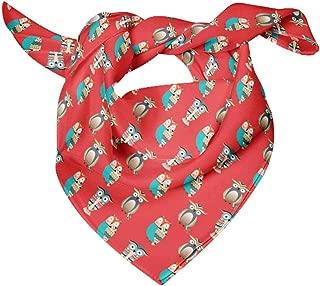 Printed Pure Silk Scarf Neck Wrap Summer Hair Bandanas For Women