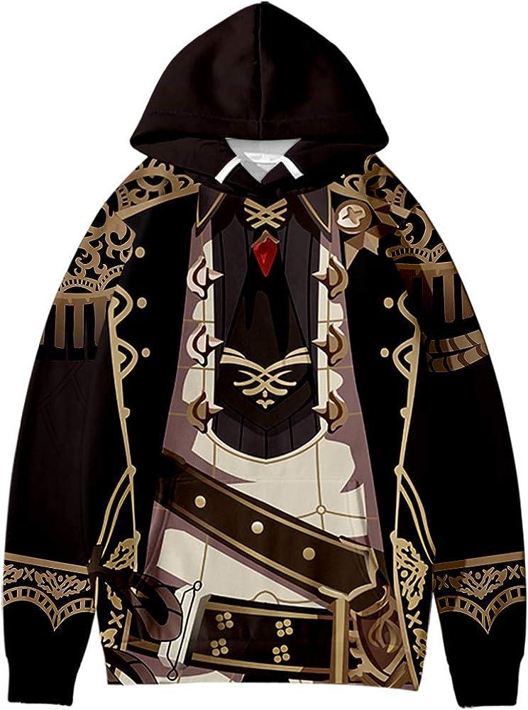 Genshin Impact Diluc 3D Fashion Fall Winter Suit Hoodies Sportswear Hooded Youthful Kawaii Women/Men Dress up The Hoodies