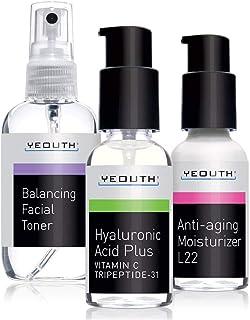 Mejor Sistema Antienvejecimiento para el Cuidado de la piel de YEOUTH - Paquete de 3.