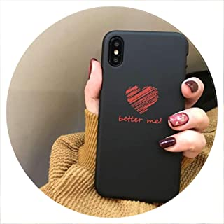 Cute Love Heart Print Back Cover for iPhone X 7 6 6S Plus 5 5S SE Phone Case Hard PC Cases Coque for iPhone 8 8 Plus,Style 15,for iPhone 7