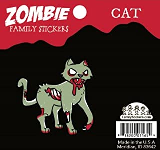 Family Car Stickers Zombie Vinyl Auto Decal, Cat