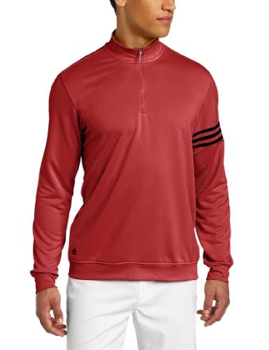 adidas Golf Climalite - Sudadera con 3 Rayas para Hombre, Hombre, 49, Universidad Rojo/Negro, XXL