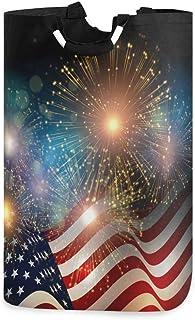 N\A Panier à Linge, Jour de l'indépendance Drapeau américain paniers de Rangement de Linge vêtements Pliables Sac Organisa...