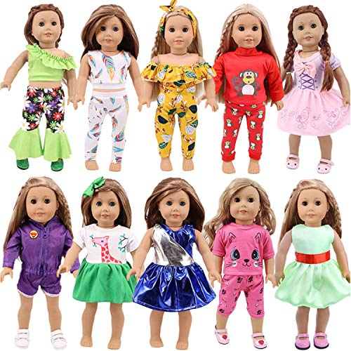 """ZWSISU Girl Doll Clothes&Dress and Accessories Fit American 18""""Girl Dolls , Madame Alexander,Our Generation Doll Journey Doll"""