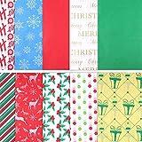 chaosong shop 150 hojas de papel de seda navideño, hojas de embalaje para manualidades, embalaje y más, 49,5 x 69,8 cm, varios colores