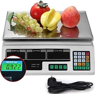 ZWFWCF Balanza Cuentapiezas Industrial, Balanza de sobremesa 40kg/2g, Bascula Digital Balanza Digital Electronica para Comercio Pesa Frutera,Green
