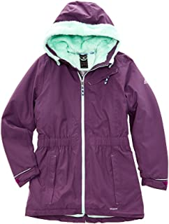 Outdoor Girls Adidas Girls' Ash Purple Climaproof Storm Parka, M, Purple