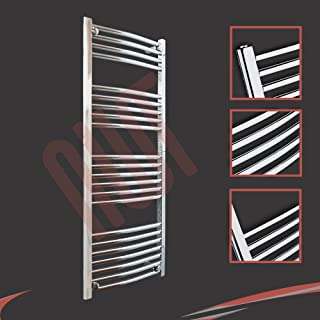 500 mm (w) x 1200 mm (h) - Cromo Curvado Radiador toallero horizontal Diámetro : 22 mm,Bar Modelo: 4 + 5 + 6 + 7