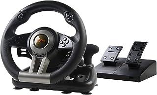 PXN-V3II 180 ° Volante de Carreras con Pedales Ajustables, USB Universal Volante de Juego para PC, PS3, PS4, Xbox One,Xbox...