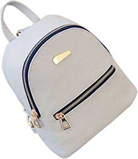OULII Women's New Fashion Causal Backpack Travel Handbag Mini School Bags Daypack Christmas Gift for Girls (Grey)