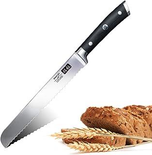 SHAN ZU Couteau à Pain 20 cm Lame Dentelée Pain en Acier Inoxydable Couteau de Pâtissieren - CLASSIC Series