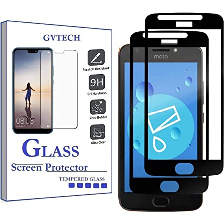 GVTECH for Motorola Moto E4 Screen Protector, Full Coverage Tempered Glass Screen Protector [2.5D Round Edge][9H Hardness][Crystal Clear][Scratch Resist] for Motorola Moto E4(2 Pack)