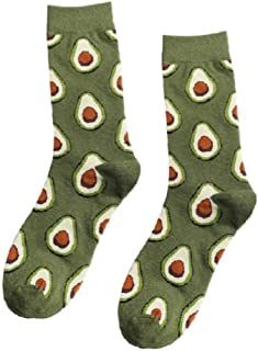 Hotaden, 3 Pares de Frutas Alimentación Calcetines Cortos Divertidos Calcetines de algodón de Las Mujeres de los Hombres de Lujo de Invierno Divertido de la Novedad con Dibujos Unisex Calcetines