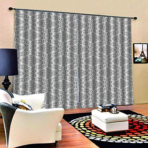 N / A 3D Vorhänge IKEA-Stil Blickdichte Gardinen Verdunkelungsvorhang 3D Gedruckt Polyester Vorhänge Für Schlafzimmer Geräuschreduzierung