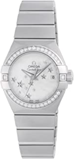 Constellation Automatic Diamond Mother of Pearl Dial Ladies Watch 123.15.27.20.05.001