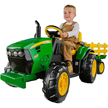 Buy John Deere Ride-On Tractor with Wagon Ground Force 12-volt Online at Low Prices in India - Amazon.in