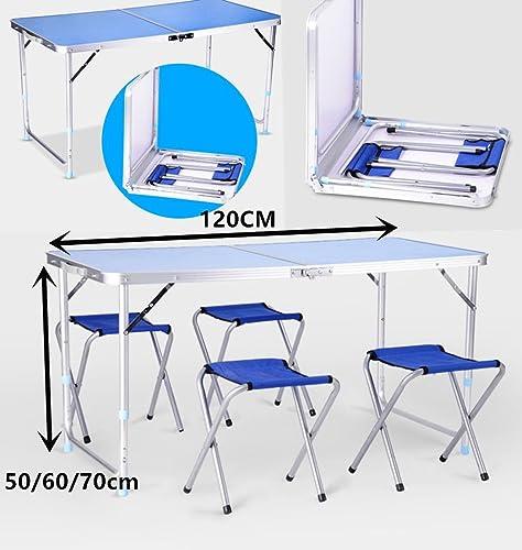 Generic et chaises Chaises de Table de fête Pliante Portable Camping BQ fête T Couleur aléatoire Mesure de Camping Pic Pique-Nique BBQ