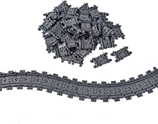 50X Flexible Tracks Railroad Train Track Non-Powered Rail Compatible with Major Brand Construction Toy