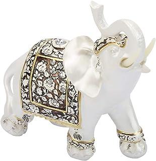 Yuehuam Vintage Exquisite Elephant Model Ornaments Statue Craft Gift Home Office Desktop Decoration