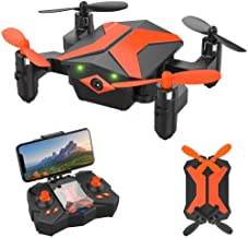 Mini Drone - ATTOP Drones for Kids & Beginners, AR Game Mode 480P RC Drone for Kids w/App Gravity/Voice Control/Trajectory Flight/Altitude Hold 360°Flip Mini Drone Foldable & Portable