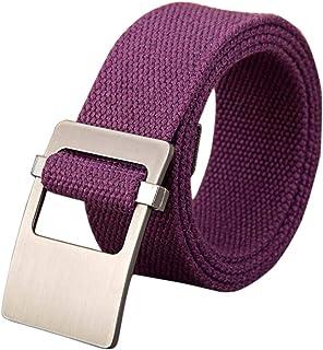 Fulision Men's Tactical Belt waist belt high-woven canvas belt pants belt adjustable breathable woman man trouser belt alloy buckle